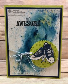 Just Sponge It! – Cindee Wilkinson, Independent Stampin' Up! Teenage Boy Birthday, Birthday Cards For Boys, Male Birthday, Boy Cards, Kids Cards, Watercolor Birthday Cards, Watercolor Paper, Masculine Cards, Paper Cards