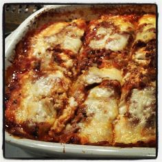 lasagna made with cabbage leaves for noodles #atkins #paleo use your favorite recipe and sub cabbage leaves for noodles.