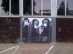 graffiti parkeerplaats - Restaurant Stork - gratis parkeren - Gedempt Hamerkanaal, - Amsterdam