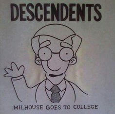 Descendents meets the Simpsons Punks Not Dead, Film Music Books, The Simpsons, My Favorite Music, Caricature, Rock And Roll, Funny, Anime, Fictional Characters