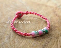 Multicolor Jade Gemstone Bracelets Friendship by IdeaBracelets