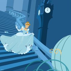 Cinderella ran away at midnight and left behind her glass slipper
