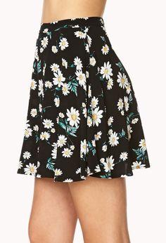 Floating Daisies Skater Skirt | FOREVER21 - 2000064320