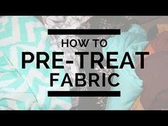 Sewalong: Pre-Treating Your Fabric + Video Tutorial   A Fashion Addict