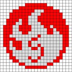 Fire Perler Bead Pattern / Bead Sprite