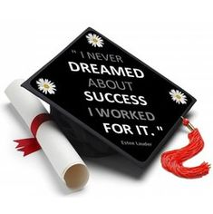 Now I'm ready to Graduate! #tasseltopper #decoratedgradcap https://www.tasseltoppers.com/#!/product/Dreamed-About-Success-Topper