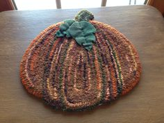 My rug hooking pumpkin!