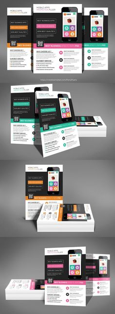 Mobile Apps Promotion Flyer Psd