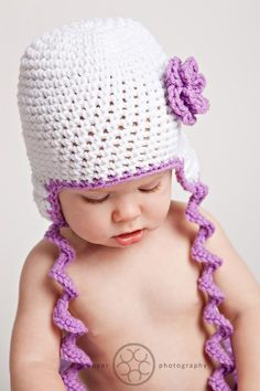 Curly Ties Earflap Hat