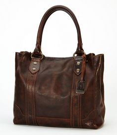 FRYE Melissa Tote,Dark Brown,One Size *** To view further for this article, visit the image link. Soft Leather Handbags, Brown Leather Handbags, Leather Bags, Leather Briefcase, Leather Craft, Tote Handbags, Purses And Handbags, Tote Bags, Weekender Bags