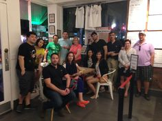12/19/2014, at Blocks Pizza Deli, dinner tour in South Beach.