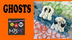 How to make an Easy Ghost Charms for Halloween using your Rainbow Loom. Beginner Level Design, uses only 37 Loom Bands total. Rainbow Loom Creations, Rainbow Loom Bands, Rainbow Loom Charms, Rainbow Loom Bracelets, Youtube Halloween, Halloween Tutorial, Loom Bands Tutorial, Loom Band Bracelets, Amigurumi