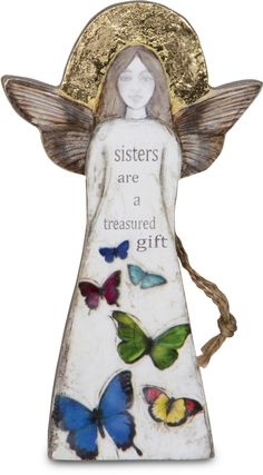 "Sister, 5.5"" Angel Ornament - Sherry Cook Studio - Pavilion"