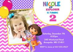 Dora the Explorer Birthday Party Invitation  by PrettyPaperPixels, $8.99