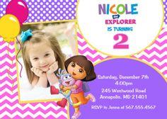 Dora the Explorer Birthday Party Invitation  by PrettyPaperPixels, $8.99