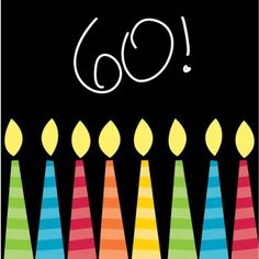 Creative Converting 16 Count 3-Ply Paper Beverage Napkins, Great Birthday 60th