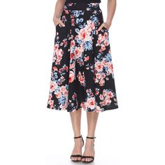 Turn on the charm in this classic women's midi skirt from White Mark. Skirts For Sale, A Line Skirts, A Line Skirt Pattern, Midi Flare Skirt, Ladies Dress Design, High Waisted Skirt, Clothes For Women, Fashion Design, Gender Female