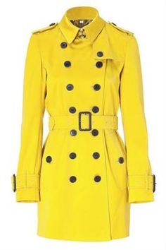 Yellow Trench Coat...SPRING!
