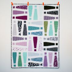 Exclamation! Quilt by Michelle Engel Bencsko Quilter's Cotton from Typography by Jessica Jones for Cloud9 Fabrics
