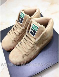 cb5e773dfec Puma X Rihanna WMNS Creeper Wheat Gum Discount ZjEAR