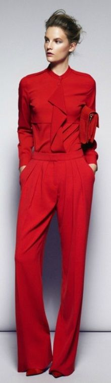 Mango 2013 - all red is a lot of look when it covers your whole body but this works brilliantly.
