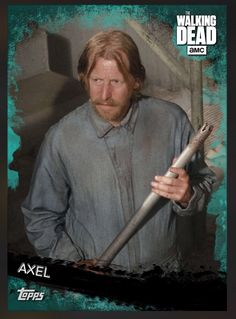 Axel (Teal Parallel) Insert Card The Walking Dead 2016 Topps