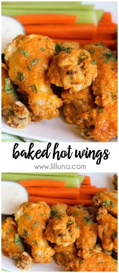 Baked Hot Wings - th