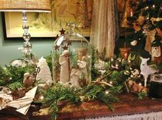 A Shabby Chic Christmas   Find these jars at Good Will Stores. lks