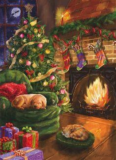 Waiting for Santa - Weihnachten - Puzzle 1000 Teile