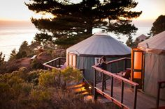 Glamping in California has most of the benefits of regular camping without the bothersome gear. See the best places for glamping on the California Coast. Tiny House Hotel, Tiny House Rentals, California Coast, Northern California, California Travel, Glamping California, California Destinations, Sacramento California, Travel Destinations