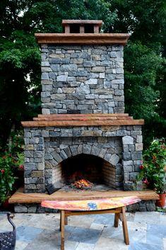 Outdoor fireplace!  {Finding Serendipity blog}
