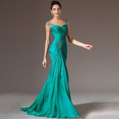 1663c1a56e258 Turquoise Mermaid Chiffon Evening Dresses Lace Up Fashion Vestido de Festa  Cheap Long Prom Dress Plus Size Robe De Soiree SSX003-in Evening Dresses  from ...