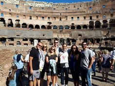 What a great photo of our clients in the Colosseum on October 13th. This was a great day because our clients got to use the virtual reality to see how the Colosseum would have looked like to the gladiators! For more information about this Virtual Reality tour of the Colosseum: www.livitaly.com/tour/colosseum-ancient-rome-tour-virtualreality/?src=pinterest