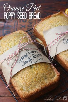 Gotta Love A Good Quick Bread Orange Poppy Seed Bread Recipe Holiday Baking, Christmas Baking, Baked Goods For Christmas Gifts, Holiday Bread, Poppy Seed Bread, Enjoy Your Meal, Bread Recipes, Cooking Recipes, Cooking With Essential Oils