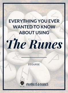 """Curious about using the runes? Imagine if the secret of the runes was revealed. The word """"Rune"""" literally means """"secret"""" and this guide is set up to help you learn how to use these mysterious symbols for divination and magical purposes. Celtic Runes, Ancient Runes, Norse Runes, Elder Futhark Runes, Viking Symbols, Viking Runes, Mayan Symbols, Egyptian Symbols, Norse Pagan"""