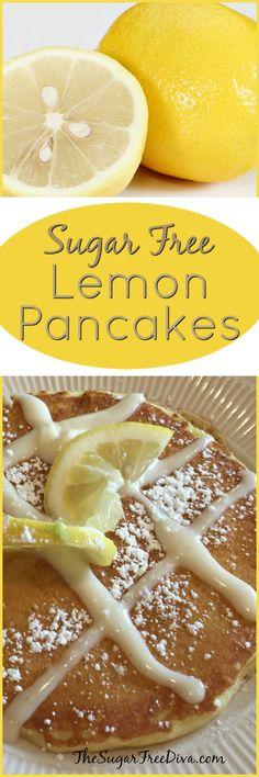 Sugar Free Lemon Pancakes-- Yum!!! Great recipe for breakfast!