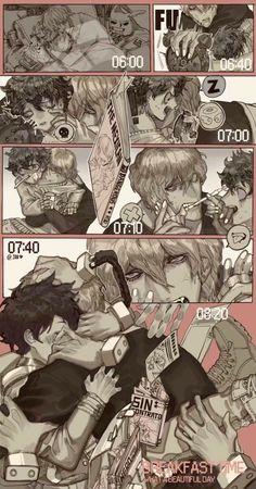 Poster A3 Boku No Hero Academia Midoriya Shigaraki Hero vs Villano Manga 01