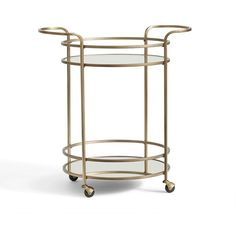 Pottery Barn Tristan Bar Cart ($299) ❤ liked on Polyvore featuring home, kitchen & dining, bar tools, pottery barn bar cart, pottery barn bar tools and pottery barn