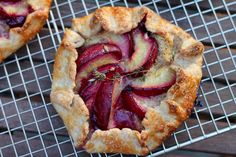 Sourdough Plum and Almond Cream Galette with Thyme | Korena in the Kitchen