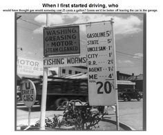 When I first started driving........