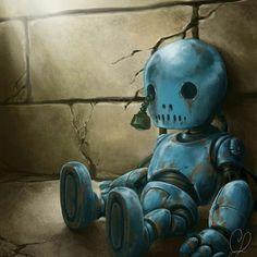 Abandoned little Robot. Arte Robot, Robot Art, Robots Robots, Conception Robot, Matt Dixon, Art Fantaisiste, Robot Technology, Technology Gadgets, Robot Concept Art
