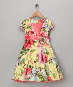 Yellow Bloom Dress - Toddler & Girls