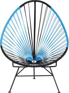 acapulco black/blue lounge chair in outdoor furniture | CB2 for the pool