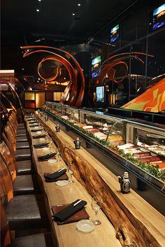 sushi bar at SUSHISAMBA strip in Las Vegas