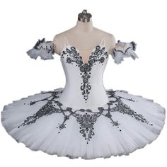 Hight Quality and Stunning Designs/Black and White Professional... (240 BRL) ❤ liked on Polyvore featuring dresses, ballet, dance and tutu