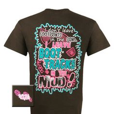 Girlie Girl Originals Country Girl Boot Tracks Bright T Shirt | SimplyCuteTees