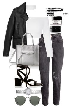 """""""Untitled #4722"""" by sheryl798 ❤ liked on Polyvore featuring H&M, Yves Saint Laurent, Rebecca Minkoff, Gianvito Rossi, DKNY, Ray-Ban, Givenchy and arbÅ«"""