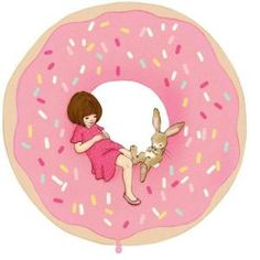 It's like Belle & Boo read my mind with this, combining 2 thing I love- wall sticker decor & donuts.