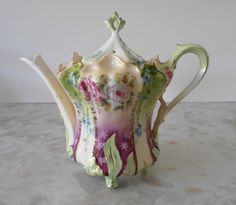 Dainty Teapot RS Prussia: a little top heavy like my sister! Love ya, DZ