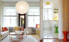 kleurrijk retro interieur
